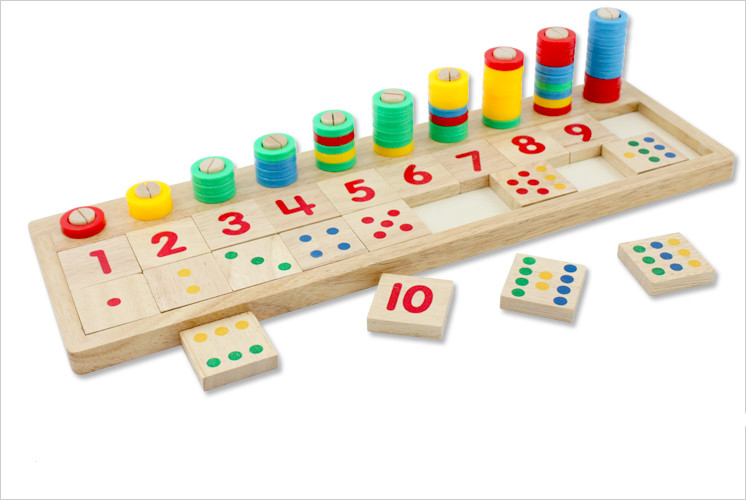 Wooden puzzle mathematics learning toy