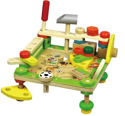 Wooden toy Nut dismounting toys