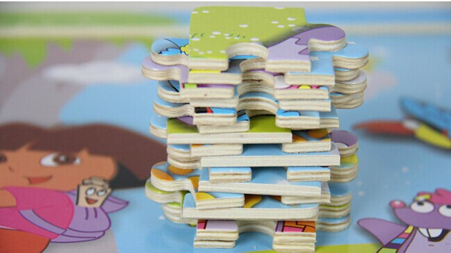 Wooden toy jigsaw puzzle
